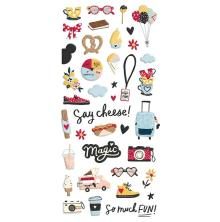 Simple Stories Puffy Stickers - Say Cheese Main Street