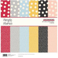 Simple Stories Basics Paper Pack 12X12 6/Pkg - Say Cheese Main Street