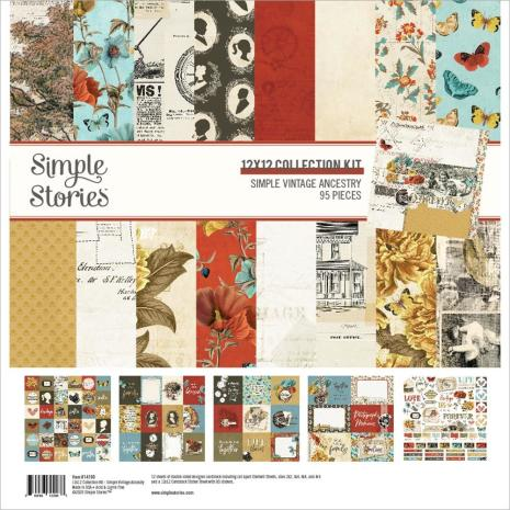 Simple Stories Collection Kit 12X12 - Simple Vintage Ancestry