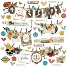 Simple Stories Sticker Sheet 12X12 - Simple Vintage Ancestry Banner
