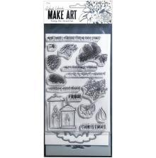 Wendy Vecchi Make Art Stamp Die & Stencil Set - Warm Wishes