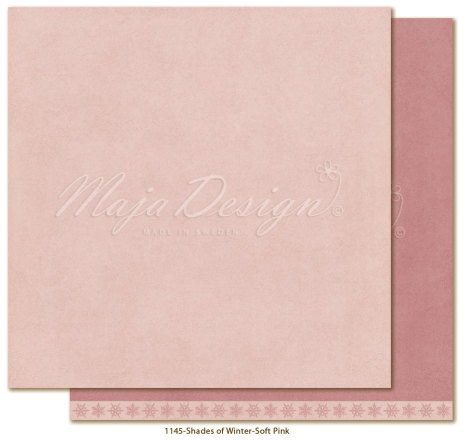 Maja Design Monochromes 12X12 Shades of Winter - Soft pink