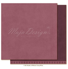 Maja Design Monochromes 12X12 Shades of Winter - Dusty wine