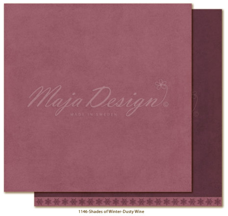 Maja Design Monochromes 12X12 Shades of Winter - Dusty wine