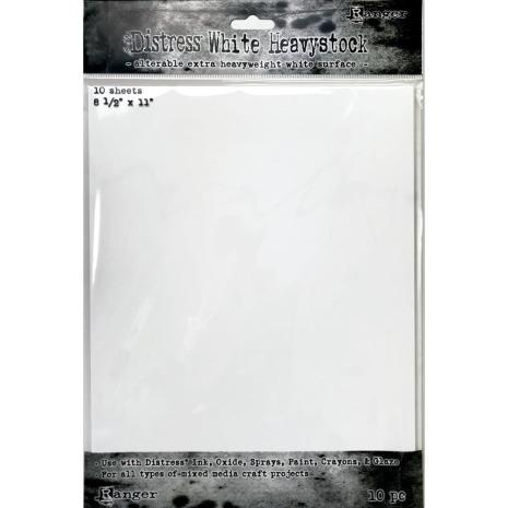 Tim Holtz Distress Mixed Media Heavystock 8.5X11 10/Pkg - White
