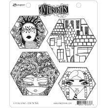 Dylusions Cling Stamps 8.5X7 - A Head Start