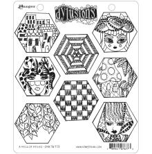 Dylusions Cling Stamps 8.5X7 - A Heck Of Hexies