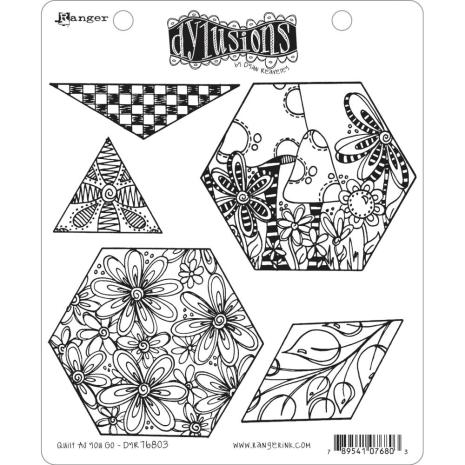 Dylusions Cling Stamps 8.5X7 - Quilt As You Go