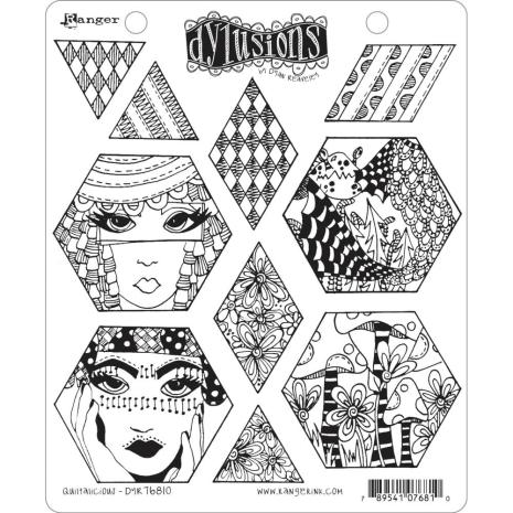 Dylusions Cling Stamps 8.5X7 - Quiltalicious