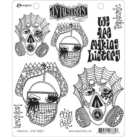 Dylusions Cling Stamps 8.5X7 - Pandemic