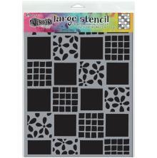 Dylusions Stencil 9X12 - Square Dance