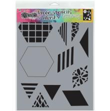 Dylusions Stencil 9X12 - 2inch Quilt
