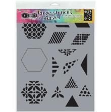 Dylusions Stencil 9X12 - 1.5inch Quilt