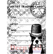 Deep Red Cling Stamp 2.6X3.6 - ATC Prof. Boston
