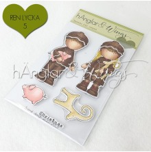 hÄnglar & Wings Clear Stamps - Pepparkakor 2020