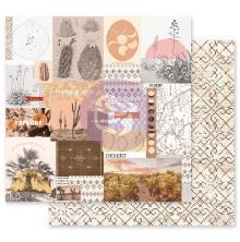 Prima Golden Desert Cardstock 12X12 - My Peaceful Place