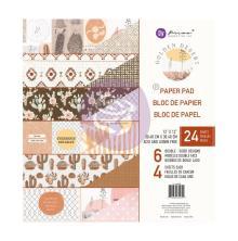 Prima Double-Sided Paper Pad 12X12 24/Pkg - Golden Desert
