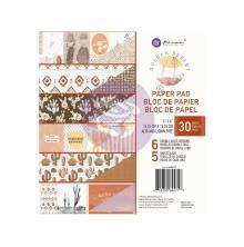 Prima Double-Sided Paper Pad 6X6 30/Pkg - Golden Desert