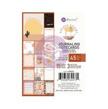 Prima Journaling Cards 3X4 45/Pkg - Golden Desert