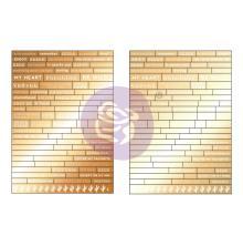 Prima Word Stickers 178/Pkg - Golden Desert