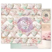 Prima With Love By Frank Garcia Cardstock 12X12 - Stitched Hearts