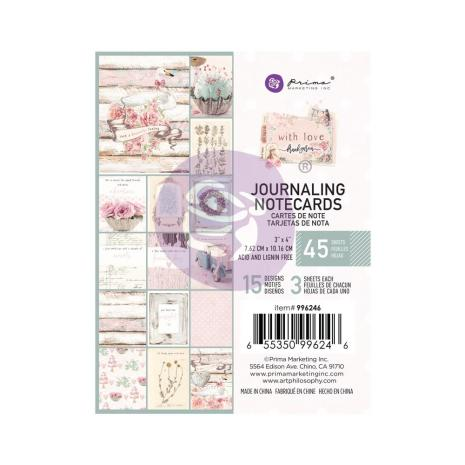 Prima Journaling Cards 3X4 45/Pkg - With Love By Frank Garcia