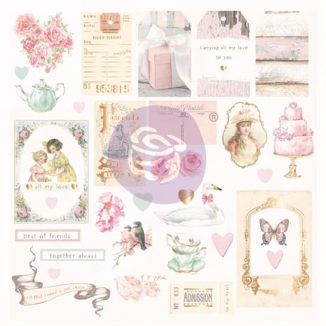 Prima Cardstock Ephemera 31/Pkg - With Love By Frank Garcia