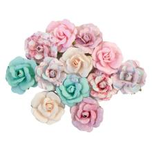 Prima With Love Mulberry Paper Flowers 12/Pkg - Lovely Bouquet
