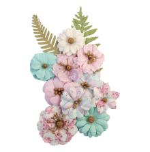 Prima With Love Mulberry Paper Flowers 12/Pkg - Sweet Lullaby
