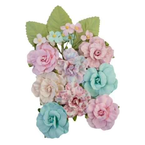 Prima With Love Mulberry Paper Flowers 14/Pkg - All Heart