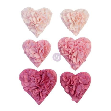 Prima With Love Mulberry Paper Flowers 6/Pkg - All The Hearts