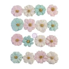 Prima With Love Mulberry Paper Flowers 16/Pkg - Little Kisses