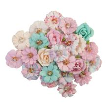 Prima With Love Mulberry Paper Flowers 24/Pkg - Friends Forever