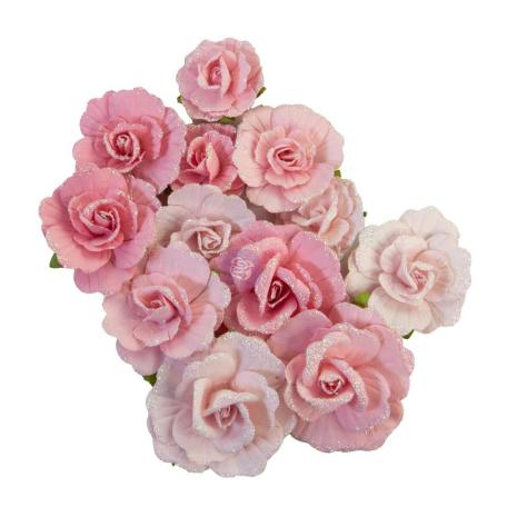 Prima With Love Mulberry Paper Flowers 12/Pkg - Sweet Sunshine