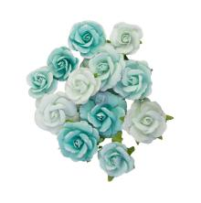 Prima With Love Mulberry Paper Flowers 12/Pkg - All For You