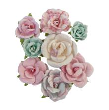 Prima With Love Mulberry Paper Flowers 8/Pkg - All My Heart