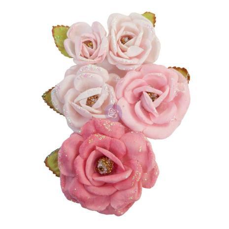 Prima With Love Mulberry Paper Flowers 5/Pkg - True Friends