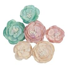 Prima With Love Mulberry Paper Flowers 6/Pkg - With Love