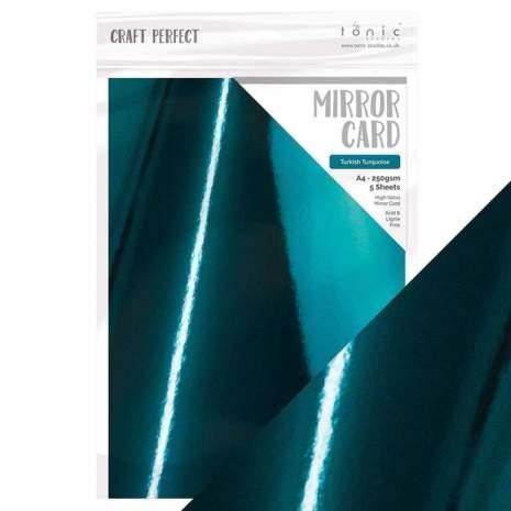 Tonic Studios Craft Perfect Mirror Card A4 - Turkish Turquoise 8701E