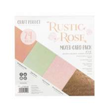 Tonic Studios Craft Perfect 6x6 Card Packs - Rustic Rose 9404E