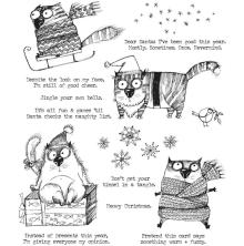 Tim Holtz Cling Stamps 7X8.5 - Snarky Cat Christmas