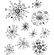 Tim Holtz Cling Stamps 7X8.5 - Retro Flakes