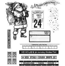 Tim Holtz Cling Stamps 7X8.5 - Vintage Holidays