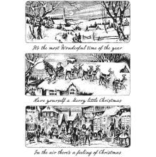 Tim Holtz Cling Stamps 7X8.5 - Holiday Scenes