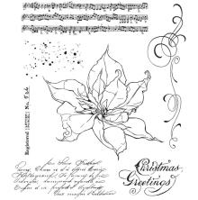 Tim Holtz Cling Stamps 7X8.5 - The Poinsettia