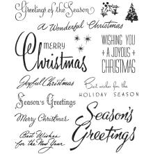 Tim Holtz Cling Stamps 7X8.5 - Christmastime #3