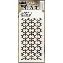 Tim Holtz Layered Stencil 4.125X8.5 - Flurries