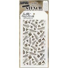 Tim Holtz Layered Stencil 4.125X8.5 - Gatherings