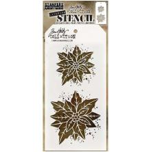 Tim Holtz Layered Stencil 4.125X8.5 - Poinsettia Due