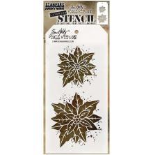 Tim Holtz Layered Stencil 4.125X8.5 - Poinsettia Due